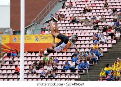 TAMPERE, FINLAND,  July 11: ERSU SASMA (TURKEY) on pole vault event on IAAF World U20 Championship Tampere, Finland 11 July, 2018.