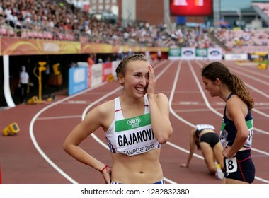 TAMPERE, FINLAND,  July 11: GABRIELA GAJANOVA (SLOVAK REPUBLIC) after 800 METRES semi-final at the IAAF World U20 Championships in Tampere, Finland on July 11, 2018.