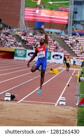 TAMPERE, FINLAND,  July 11: MAIKEL Y. VIDAL from Cuba win silver in the long jump final at the IAAF World U20 Championships in Tampere, Finland on July 11, 2018.