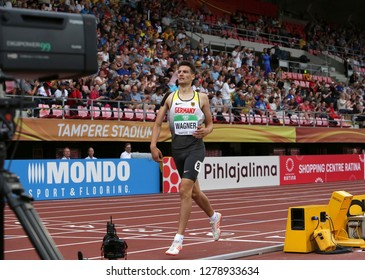 TAMPERE, FINLAND, July 11: MANUEL WAGNER (GER) in decathlon on the IAAF World U20 Championship in Tampere, Finland 11th July, 2018.