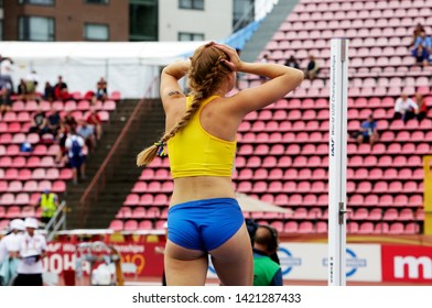 TAMPERE, FINLAND,  July 12: ERIKA WARFF from SWEDEN on heptathlon event in the IAAF World U20 Championship Tampere, Finland 12 July, 2018.