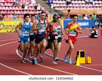 TAMPERE, FINLAND,  July 12: GEORGE MEITAMEI MANANGOI from Kenya win gold on 1500m at the IAAF World U20 Championships in Tampere, Finland on July 12, 2018.