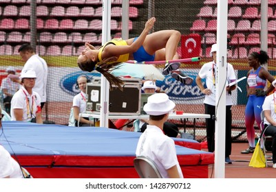 TAMPERE, FINLAND,  July 12: IDA THUNBERG from SWEDEN on heptathlon event in the IAAF World U20 Championship Tampere, Finland 12 July, 2018.