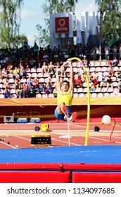 TAMPERE, FINLAND,  July 14: ARMAND DUPLANTIS from Sweden win pole vault event on IAAF World U20 Championship Tampere, Finland 14th July, 2018.