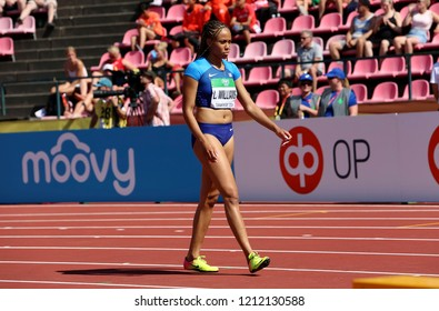 TAMPERE, FINLAND, July 14: LAUREN RAIN WILLIAMS from USA win silver on 200 metres final in the IAAF World U20 Championship in Tampere, Finland 14 July, 2018.