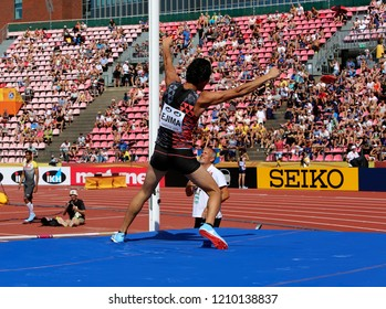 TAMPERE, FINLAND,  July 14: MASAKI EJIMA from Japan win bronze in pole vault event on IAAF World U20 Championship Tampere, Finland 14th July, 2018.