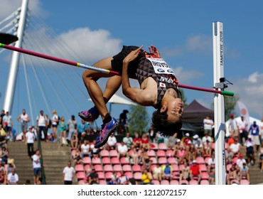 TAMPERE, FINLAND,  July 14: NAOKI HIGASHI from Japan in high jump final  on the IAAF World U20 Championship Tampere, Finland 14 July, 2018