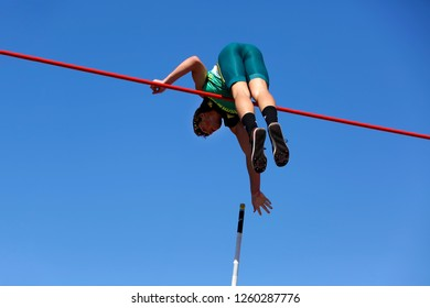 TAMPERE, FINLAND,  July 14: VALCO VAN WYK from South Africa in pole vault event on IAAF World U20 Championship Tampere, Finland 14th July, 2018.