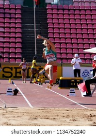 TAMPERE, FINLAND,  July 15: ALEKSANDRA NACHEVA track and field athlete win gold medal in high jump on the IAAF World U20 Championship Tampere, Finland 15th July, 2018.