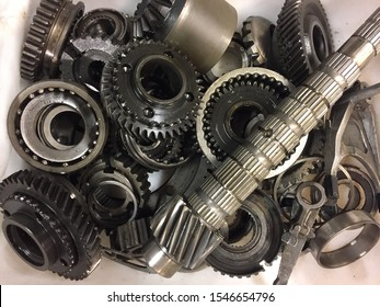 Tampere, Finland - October 28 2019: Sprockets and bearings for recycling.