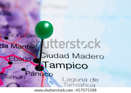 Tampico Pinned On Map Mexico Stock Photo Edit Now 457075588