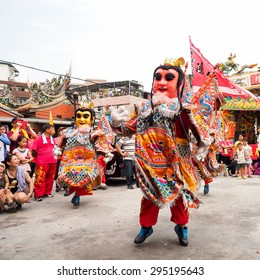 TAMSUI,TAIWAN- June 21:The holy general in tour of inspection around on June 21,2015 in Tamsui,Taipei,Taiwan. The fair held annually for honor of the Ching-Shui Master.
