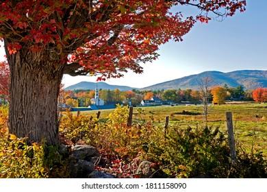 Tamworth Village, New Hampshire during Fall.