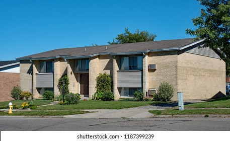 Tan Brick Low Income Housing Apartments