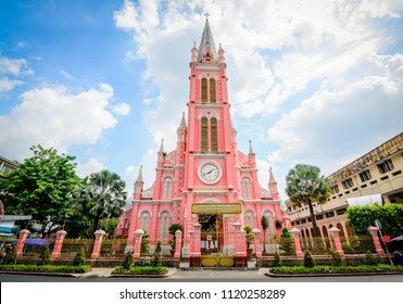 Tan Dinh Church Saigon is a pink, Romanian-style, second largest church in Ho Chi Minh City, Vietnam, where you can see intricate Gothic and Renaissance elements surviving Vietnam's turbulent periods.