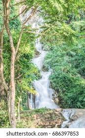 Tan Tong waterfall at Phayao province, Thailand.