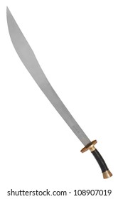 Tan Tow Chinese Broad Sword isolated on white background with clipping path
