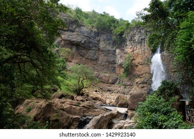 Tana Toraja, South Sulawesi, Indonesia - March 2018 : The beautiful waterfall in deep forest at South Sulawesi, Indonesia