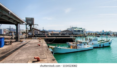 TANABE, JAPAN - MARCH 31: Fishing boats on March 31, 2014 in Tanabe, Japan. The fishing industry in Japan constitutes both a major industry and export. Japan has more than 2,000 fishing ports.