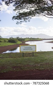 Tanada Reservoir Landscape in Hawaii