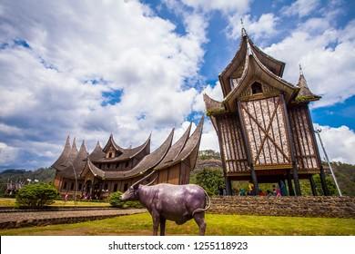 Tanah Datar, West Sumatera, Indonesia : Istano Baso Pagar Ruyung, a heritage building with traditional Minangkabau design at Tanah Datar, West Sumatra, Indonesia (11/2016)