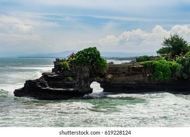 Tanah lot temple at Bali, Indonesia