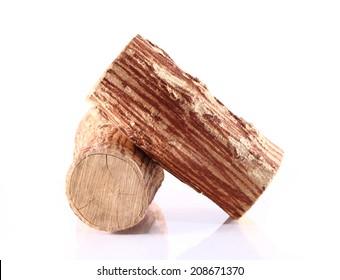 Tanaka wood on white background