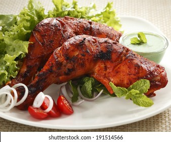 Tandoori Chicken , Indian spicy food