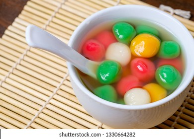 Tang Yuan or traditional chinese sweet rice ball made from glutinous rice with sweet soup