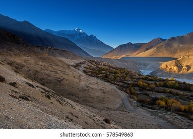 Tangbe village and Kali Gandaki valley, Mustang, Nepal