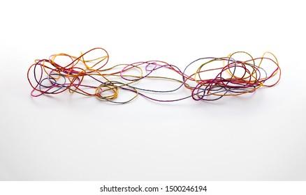 Tangeld network or communication. A network full of conjestion and bottlenecks.