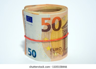 tangent policy, money - euro banknotes (100 €, 50,20,10,5 ) - inflation and increase in the cost of living - devaluation euros, spread and economic crisis - stock exchange and finance