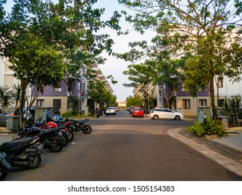 Tangerang, Indonesia - 13th Sept 2019: Allogio Cluster in Summarecon Serpong luxury real estate. It is a cluster specifically for boarding houses for university students.