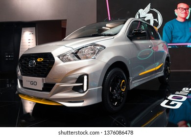 Tangerang, Indonesia- August 7, 2018: Datsun GO Live in Gaikindo Indonesia International Autoshow 2018
