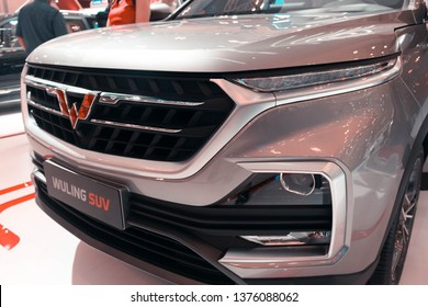 Tangerang, Indonesia- August 7, 2018: Wuling Almaz in Gaikindo Indonesia International Autoshow 2018 (Also Known as Chevrolet Captiva and MG Hector)