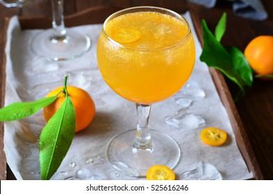 Tangerine Cocktail, Ctirus Cold Drink