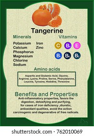 Tangerine, information sheet on the nutritional composition and its health benefits