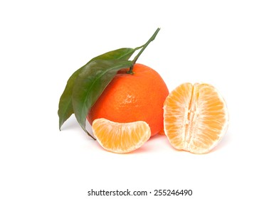 Tangerine isolated on a white background