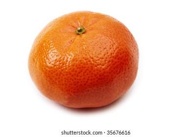 Tangerine isolated on white background.