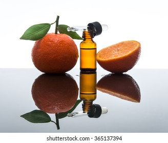 Tangerine / mandarin essential oil bottle with dropper