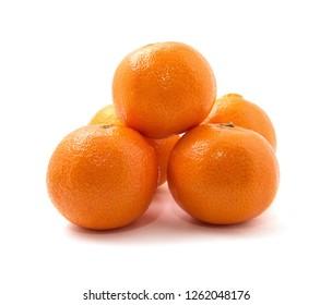 tangerine or mandarin fruit isolated on white background