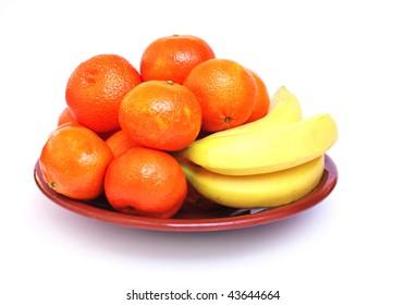 Tangerines and bananas