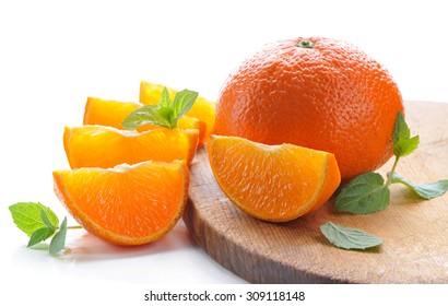 Tangerines.Ripe, juicy  citrus fruits.