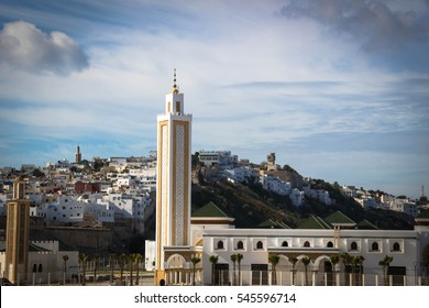 Tangier medina in Morocco. Tangier is a major city in northern Morocco. Tangier located on the North African coast at the western entrance to the Strait of Gibraltar.