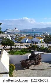 TANGIER, MOROCCO - NOVEMBER 9, 2015: Old cannon in Tangier