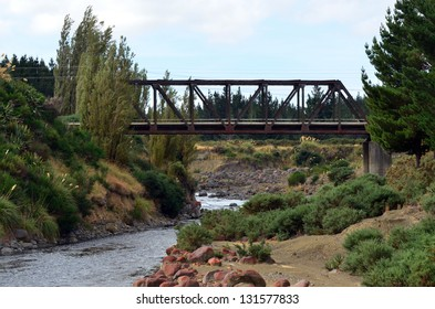 TANGIWAI,NZ - MAR 04:Tangiwai Bridge on March 04 2013.It was the worst rail accident in New Zealand 151 people died on Dec 24 1953 when Whangaehu River bridge collapsed during mudflow beneath a train.