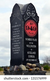 TANGIWAI,NZ-MAR 04:Tangiwai Memorial on March 04 2013.It was the worst rail accident in New Zealand 151 people died on Dec 24 1953 when Whangaehu River bridge collapsed during mudflow beneath a train.