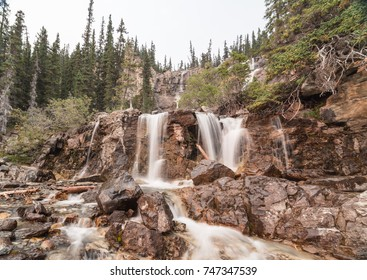 Tangle falls in Jasper national park, Alberta.