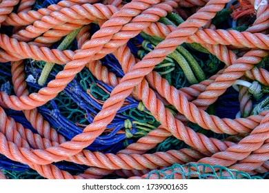 Tangle of ropes in the fishing harbour