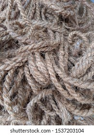 Tangled Jute Rope Close Up